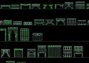 某多种不同的窗帘素材设计cad方案