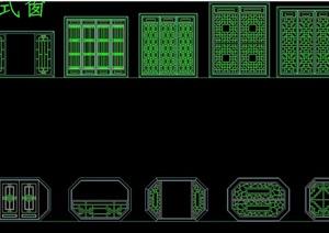 中式详细的窗户素材cad方案