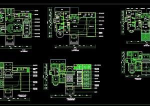 某完整的住宅室内别墅装饰设计cad详图