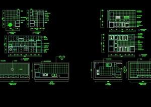 厨房室内空间装饰设计cad施工详图
