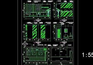 咨询台详细完整设计cad施工详图