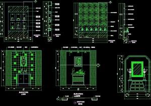 端景台完整详细的设计cad施工图块