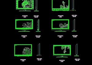 多个不同的详细电视素材cad图块