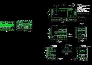 详细的多种不同的厨柜素材cad施工详图