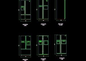 多个不同的冰箱素材cad图块