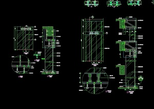详细的整体完整幕墙设计cad施工详图