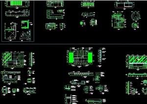 多种不同的详细接待台素材cad施工详图