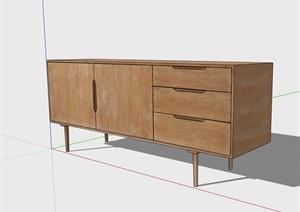 詳細的完整柜子素材設計SU(草圖大師)模型
