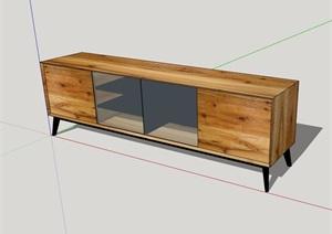 詳細的整體完整柜子素材設計SU(草圖大師)模型