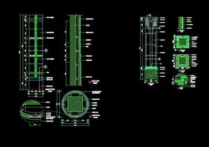 某详细的室内柱子素材cad详图