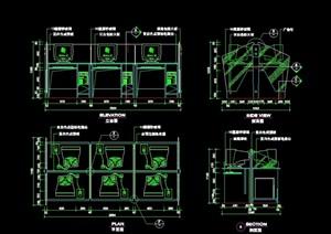 网吧空间素材设计cad施工详图