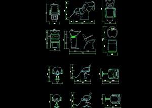 医用设备素材cad图块