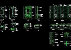 详细的完整工作台cad详图