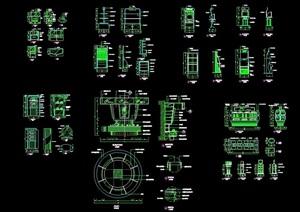 电器类家具素材cad施工图道具