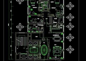 现代酒店总统套房室内设计cad施工详图