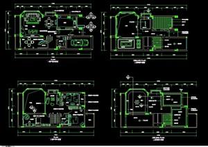 住宅室内别墅设计cad施工图