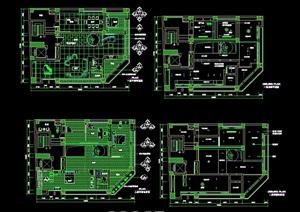独特住宅室内别墅设计cad施工图