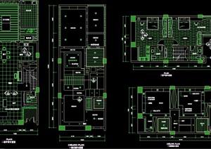 现代详细住宅室内别墅设计cad施工图