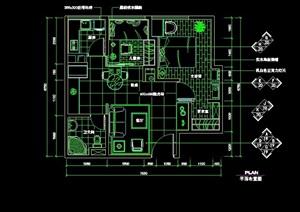 中式風格住宅室內空間裝飾設計cad施工圖