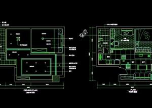 中式風格室內住宅空間裝飾cad施工圖