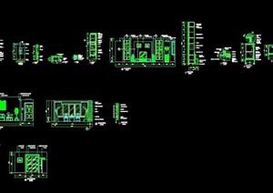 中式住宅詳細室內空間cad施工圖
