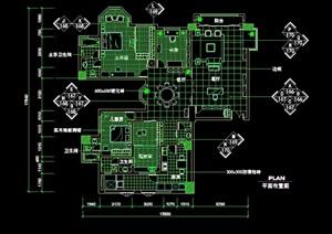 某中式住宅詳細的室內空間設計cad施工圖