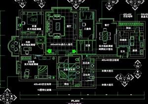 新古典主義風格詳細的住宅空間設計cad施工圖
