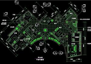 新古典主義風格完整的室內空間裝飾cad施工圖