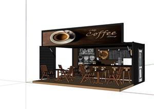 集装箱咖啡馆详细设计SU(草图大师)模型