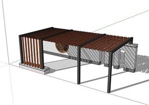 新中式景觀廊架素材SU(草圖大師)模型