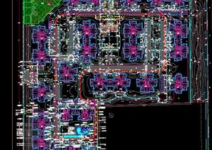 某详细的住宅完整小区景观设计cad施工图