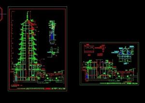 古典中式风格详细的塔cad施工图