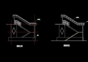 详细的完整楼梯素材cad施工图