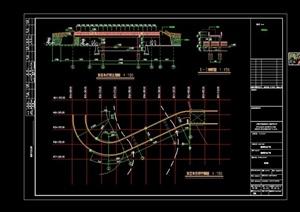 园林景观详细的园桥设计cad施工图