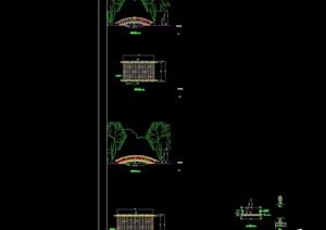 园林景观小拱桥cad施工图