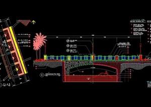 景观园桥设计cad施工图