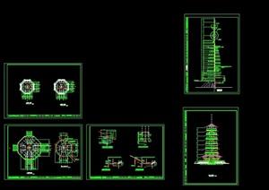 七层宝塔详细设计cad施工图