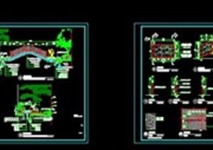 实木平台、台阶、护栏详细CAD施工图01