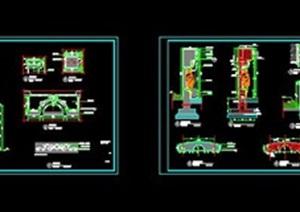 欧式特色(景墙)CAD施工图A