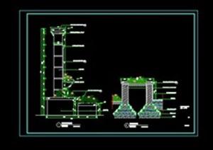 欧式特色(景墙)CAD施工图01