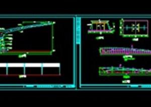 机动车车棚膜结构cad施工图
