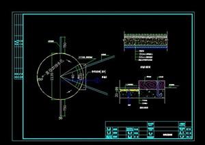运动场(铅球区)详细CAD施工图