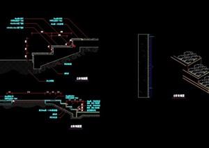 园林景观详细的台阶详细素材cad施工图