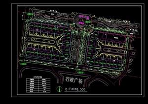 园林景观详细的办公环境设计cad施工图