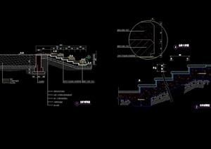 园林景观详细的台阶剖面cad施工图