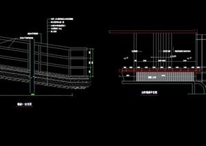 独特完整的园林景观详细的台阶cad施工图