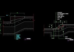 两个园林景观详细的台阶cad施工图