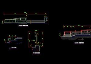 园林景观详细的台阶详细设计cad施工图