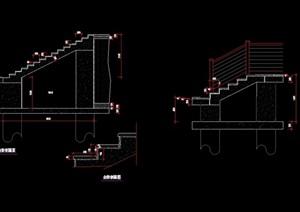 园林景观详细的台阶cad方案