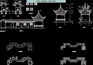 古典中式风格连廊cad施工图